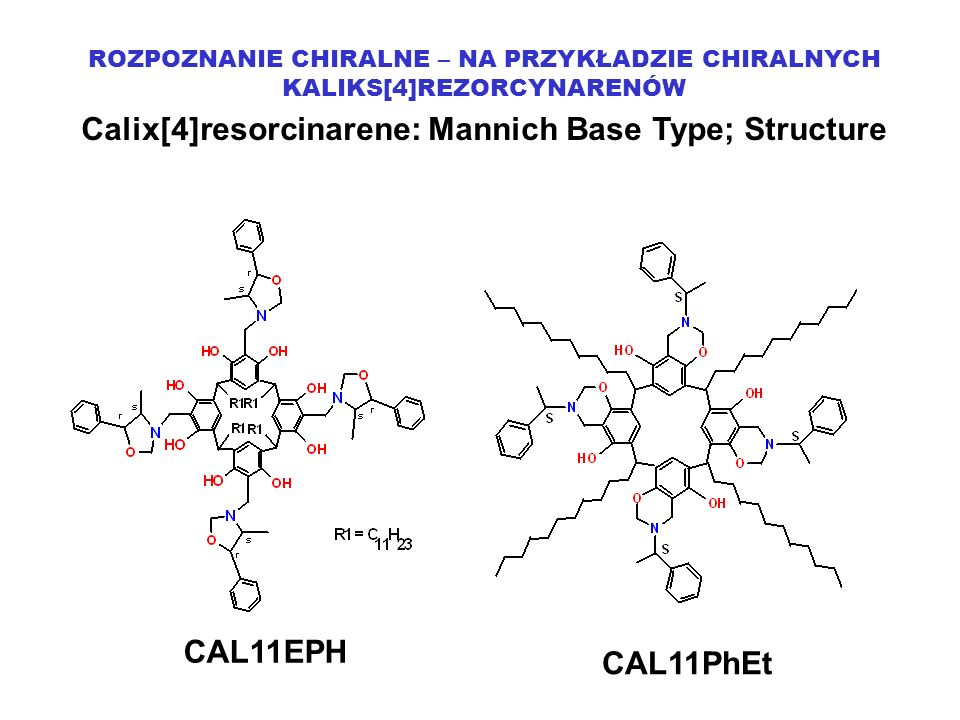 Calix[4]resorcinarene: Mannich Base Type; Structure
